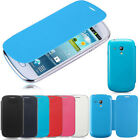 LEATHER BACK FLIP BATTERY CASE COVER FOR SAMSUNG GALAXY S3 I8190 MINI FREE FILM
