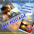 Your Photo Picture Print On Canvas Personalised with Free Matching Mouse Mat