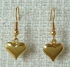SMALL HEART DANGLE/ DROP HOOK EARRINGS - GOLD OR SILVER COLOURED