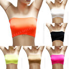 Women's Basic Elastic Strapless Tube Bra Top Seamless Bandeau Fits Tee One Size