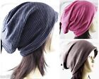 1 Pack Unisex Winter Long Stripe Light Soft Beanie Beret Hat Slouchy Cap