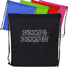Diamante Embellished BLING BLING! Cotton Dance / PE / Gym bag With Free Name