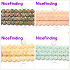 "14mm Carved Flower Stone Beads Jewelery Making Strand 15""Many Material Select"