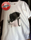 New Solar Trans Animal  Big Cat Black Panther Print T-Shirt Changes Colour