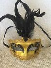 Mardi Gras Masquerade Halloween feather mask favor weddings Venetian masks party