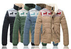 New Winter Men's  Casual Cotton-padded Short Stand collar Coats & Jackets