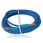2 xBlue 2M 3.5mm Jack AUX Stereo Audio Car Adapter Cable For iPhone&Samsung Blue