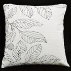Lf301a Black Off White Plant Pure Cotton Canvas Fabric Cushion Cover/Pillow Case
