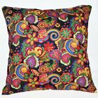 LF304a Green Yellow Flower Pure Cotton Canvas Fabric Cushion Cover/Pillow Case