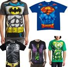 DC Comics Costume Tee Shirts Superman Batman Green Lantern The Joker