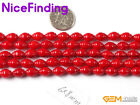 """NiceFinding Corkscrew White Red Coral Stone Loose Beads Jewelry Making 15""""6x8mm"""