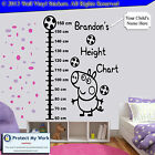 George Peppa Pig Height Chart Personalised Kids Children Name Wall Stickers cm