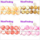 """11mm 20mm 25mm Coin Shell Stone Beads Jewelry Making Strand 15""""Many Color Pick"""