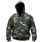MENS ARMY JACKET HOODIE FLEECE LINED HOODY S M L XL XXL CAMO CAMOFLAUGE FISHING