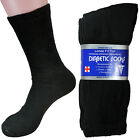 New 3 Pairs Mens Diabetic Crew Socks Health Calf Circulatory Diabetes All Size
