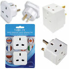 Adapters - for shavers, EU, USA, canada, Australia, 2 way, 3 way, 3 pin plug