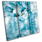 Blue Butterfly Tranquil Animals TREBLE CANVAS WALL ART Picture Print VA