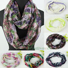Fashion Women's Print Infinity Loop Cowl Eternity Voile Casual Scarf 6 Types New