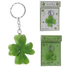 Lucky SHAMROCK Four Leaf Clover KEY RING in Presentation Box: Good Luck - NEW
