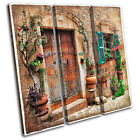 Mediterranean Vintage TREBLE CANVAS WALL ART Picture Print VA