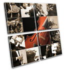 Instruments Musical MULTI CANVAS WALL ART Picture Print VA