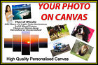 "Personalised Canvas Printing Your Photo Picture Image Printed Box Framed 34""x20"""