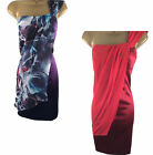 Karen Millen Dress 8 10 12 14 16 Silk Satin Draped Wiggle Pencil One Shoulder