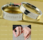 2 OPTION Korea Forever Love Heart Couple Ring Set promise band PERSONALIZED NAME