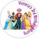 PERSONALISED BIRTHDAY PRINCESSES STICKERS SEALS GIFT FAVOURS INVITES KIDCS29