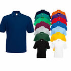 PACK OF 2 FRUIT OF THE LOOM POLO T SHIRT 14 COLOURS ALL SIZES
