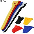 """10 Pcs 6"""" Hook Loop Self Attaching Reusable Cable Tie Fasten Wrap"""