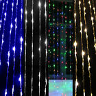 3M x 2.5M 480 Led Waterfall Curtain Fairy String Lights Xmas Party Garden
