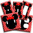 NEW MINNIE MOUSE SILHOUETTE RED POLKA DOTS KIDS GIRLS ROOM LIGHT SWITCH OUTLETS