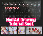 Nail Art Tutorial Template Book Flowers Colour Drawing Carving Painting Steps