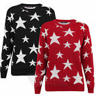 Childrens Kids Jumper Sweater Star Stars Black and White Girls Boys Warm Knitted