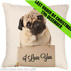 Pug Cushion -  Add your own text choice | Gift | Cute dog | Pet