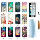 Fashion Hard Case Cover For iPhone 5 5G 5S+Free Touch Pen& Screen Protector