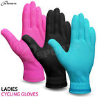 Ladies Cycling Winter Gloves Full Fingers Silicone Palm Grip Size - S/M - L/XL