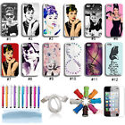 New Charming Audrey Hepburn Hybrid Hard Back Case Cover Skin For iPhone 4 4G 4S
