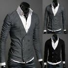 T074 New Men's Luxury Casual Stylish Slim Fit Long Sleeve Sweaters