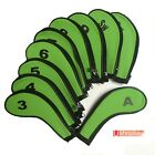 Golf Iron Club Covers Sleeve Zipper Protect x10pcs for Callaway Ping Titleist