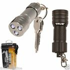 TRUE UTILITY 3 LED MICROLITE KEY RING TORCH water resistant super bright keyring
