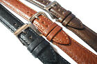 Italian Calf Buffalo Grained Leather watch Strap. 12 - 24mm, Black, brown or tan
