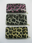 LADIES ELLA LEOPARD PRINT PATENT ZIP AROUND PURSE AVAILABLE IN 3 COLOURS 72550