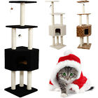 """New Pet Cat Tree Condo Furniture 55"""" Level Scratching Post Pet House Toy 3 Color"""