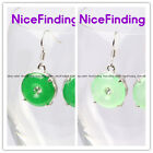 Nicefinding Fashion 15mm ring carved tibetan silver dangle earrings for gift