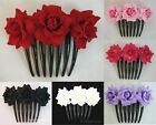 Rose flower Hair Comb Choose the color