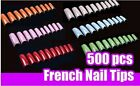 500 French Acrylic Artificial Half False Nail Art Tips Manicure Decoration