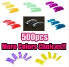 500 Clear Colours French Acrylic Artificial Half False Nail Art Tips Manicure