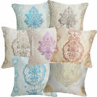 Cotton Blend Emboridered Metalic Damask Cushion Cover/Pillow Case*Custom Size